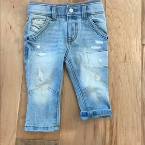 Faded Distressed Skinny Jeans 12m